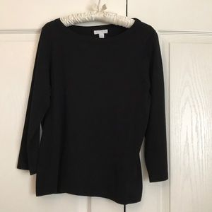 Black  3/4 sleeve pullover sweater